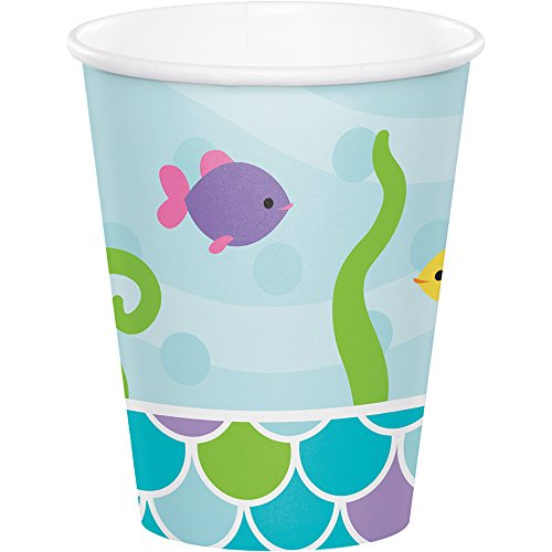 317265 96 Count 9 oz Hot/Cold Paper Cups, Mermaid Friends (Little Mermaid 9 Oz Cups)