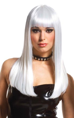 [Deluxe Mistress Platinum Wig - Adult Std.] (Girls Deluxe Catwoman Costume)