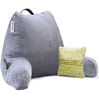 Perfect Support, Soft Breathable Cover Red Nomad Shredded Foam Reading Pillow