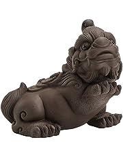 Purple Clay Brave Troops Figurine Lucky Pi Xiu Tea Pet Home Decoration Tea Set Crafts
