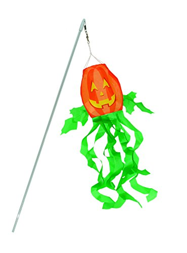In the Breeze 4994 Jack O' Lantern 3D Windsock-Halloween Decoration, 16