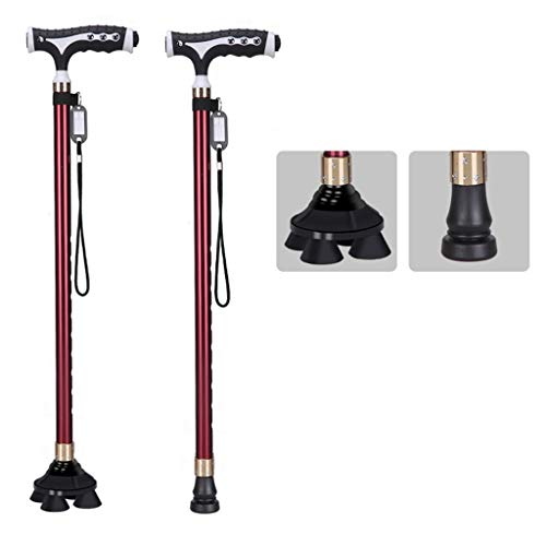 QNDYDB Crutches 2 Kinds of Bottom Telescopic Adjustable Cane Aluminum Crutches - Underarm Crutch Adjustable Aluminum