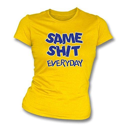 TshirtGrill Selben schissen dünnes T-Shirt der Sitz des täglichen Mädchens, Farbe- Gold