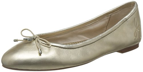 Sam Flat Molten Ballet Women's Leather Edelman Felicia Gold 8I7w8Pr