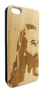Genuine Maple Wood Organic Jesus Christian Religious Snap-On Cover Hard Case for iPhone 5/5S by heywan