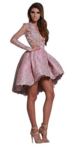 Geblümt A Linie Damen Kleid Engerla Pink fwIO5