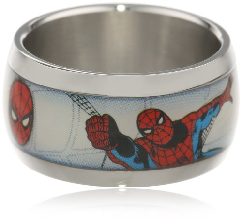 Marvel Comics Spider-Man Stainless Steel Graphic Men's Ring, Size 10