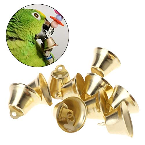 Bird Toys - 10pcs Parrot Toys Bell Golden Sound Decoration Bird Diy Pet 2019 - Basketball Small Swing Beaaks Chain Breasted Large Rawhide Rings Parakeets Nest Shred Bells Bird Talk Bana by JamillShop