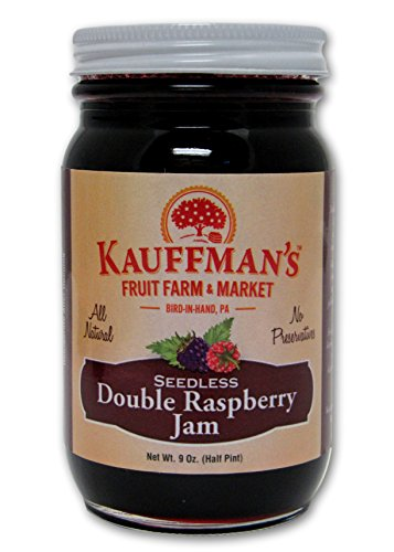 Kauffman's All-Natural Double Raspberry Jam, 9 Oz. Jar (Pack of 2)