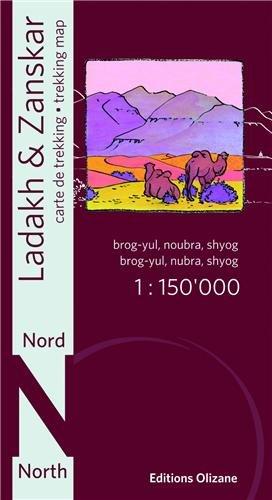Northern Ladakh & Zanskar Trekking Map 1:150,000 (Trekking Ladakh)