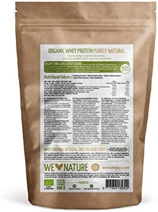 Organic Whey Protein - Purely Natural - 80% Proteína - Proteína de ...