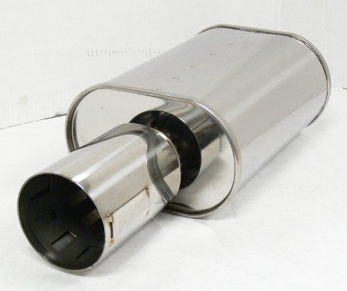 "OBX Forza Universal Muffler HR09 3.0"" Honda Civic Accord Prelude All Car"