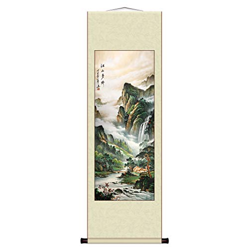 - Chinese painting Scroll by Wall decoration Art Landscape painting C-A001-5