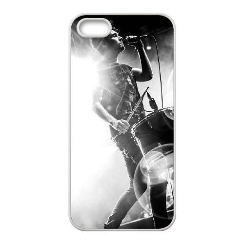Bastille coque iPhone 5 5S Housse Blanc téléphone portable couverture de cas coque EBDOBCKCO10328