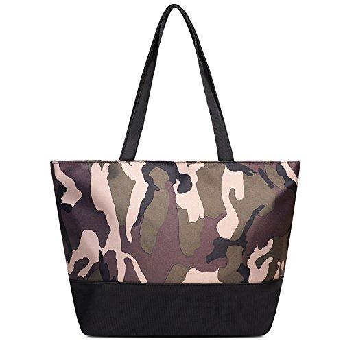 Camouflage Womens Handbag (Vintga Large Fashion Totes Bag Shoulder Bag Top Handle Satchel Handbag Purse for Women (Camouflage))