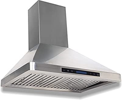 Cycene Professional Series Wall-Mounted Stainless Steel Range Hood w/ Baffle Filter @ 600CFM - CY-RH29PS-30