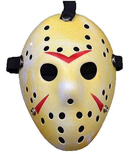 Porous Jason Voorhees Mask, Cosplay Hockey Scary Costume Masks Props for Halloween Masquerade Party