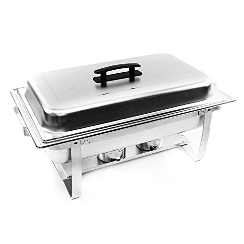 Alpha Living 8QT Chafing Dish High Grade Stainless Steel Chafer Complete Set
