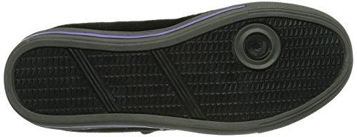 Lico Carla VS - zapatilla deportiva de cuero niña negro - Schwarz (schwarz/lila)