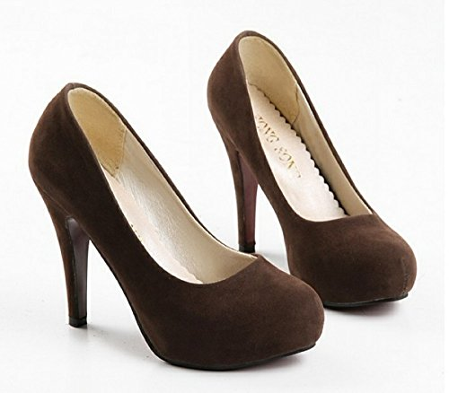 Nonbrand Ladies Faux Suede Pumps Office Party stiletto heels high heel shoes Red wS1bcthEE7
