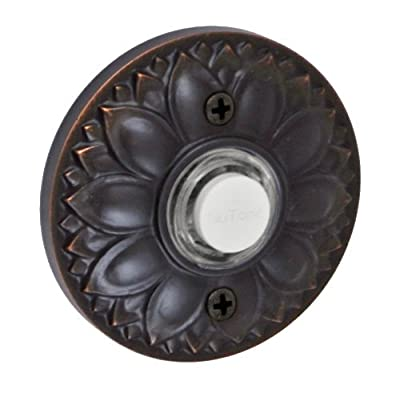 Fusion Hardware BEL-D8-ORB Designer Collection Floral Doorbell, Oil Rubbed Bronze, 1-Pack Model: BEL-D8-ORB