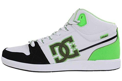 DC Shoes University MID Womens Shoe D0303211 - Zapatillas de cuero para mujer White/Fluorescent