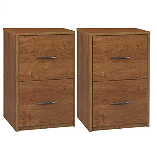Ameriwood Home Core 2 Drawer File Cabinet Bank Alder, Set of - Cabinet Alder Set