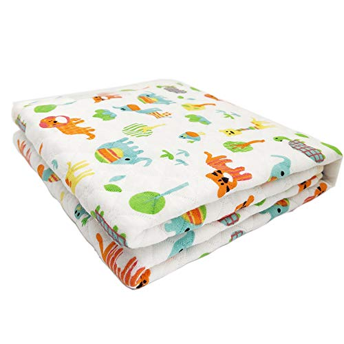 LANEYLI Baby Diaper Sheet(Lion and Tiger) Portable Changing Pad Baby Urine Pads Mattress Waterproof Mat, Multi-Function Storage Bag for Travel Bed Play Stroller Crib Car Home(27.5 x 19.7 Inch)