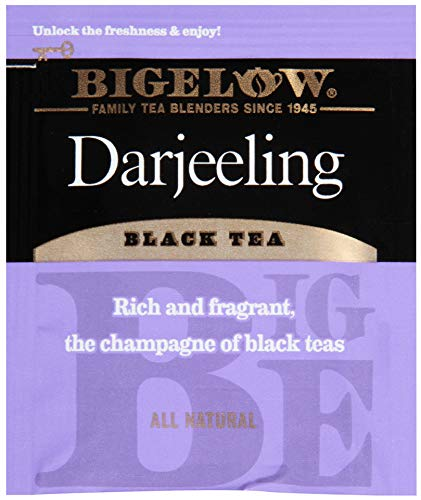 Bigelow Darjeeling Blend Tea 28-Count Box (Pack of 3) Full Caffeine Premium Black Tea Bold and Antioxidant-Rich Full Caffeine Black Tea in Foil-Wrapped Bags