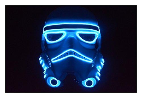 Trippy Costumes (El Wire Mask Storm Trooper Halloween Mask Gloving Mask (Blue))