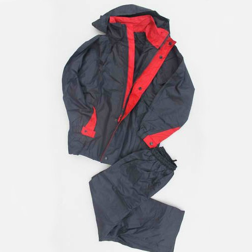 Rain/Wind Proof Jacket & Pants Youth Navy Blue/Red (12)