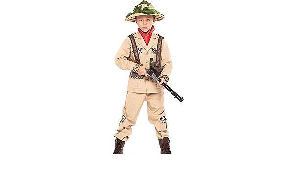 Italian Made Boys Safari Jungle Hunter Carnival Fancy Dress Costume Outfit 3-10y
