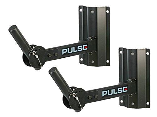 2 x Pulse 50 kg Heavy Duty speaker staffa di supporto da parete regolabile 35 mm PA disco DJ