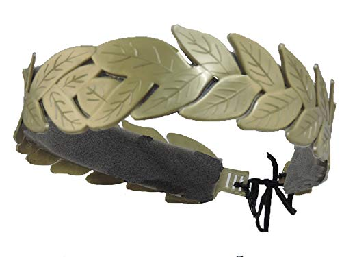 Star Power Men's Laurel Leaf Roman Costume Headband Gold]()
