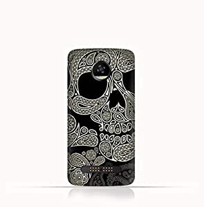 Motorola Moto Z2 Play TPU Silicone Case With Skull & Piesley Design