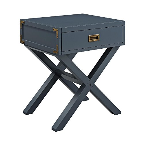 Dorel Living Miles Nightstand, Graphite Blue by Dorel Living