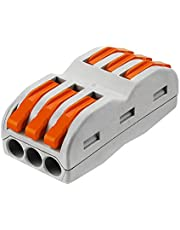 Kalolary Lever-Nut Wire Connectors-20 Pcs SPL-2 Compact Wire Wiring Connector Conductor Terminal Block for Junction Box Assortment