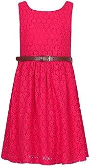 Richie House Girls' Sweet Lace Sleeveless Dress with Belt RH