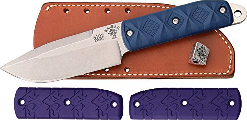 "Ka-Bar Snody 510 ""Big Boss"" 2 Knife with Extra Blue Handle Included, Purple"