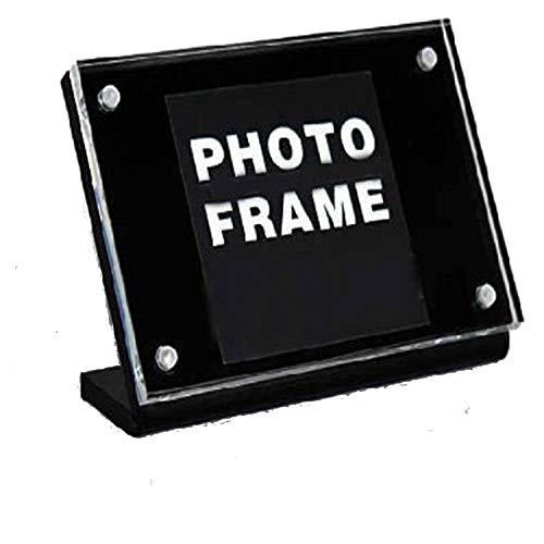 Acrylic Magnetic Sign Holders,Slanted Plastic Card,Signage Frames Landscape Displays for Store,Hotel,Supermarket-(2units/lot) 4x6