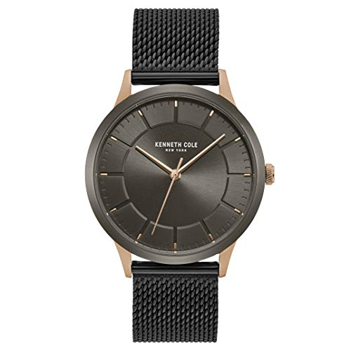 Kenneth Cole New York Male Quartz Watch with Stainless Steel Strap, Black, 20 (Model: KC50781003)