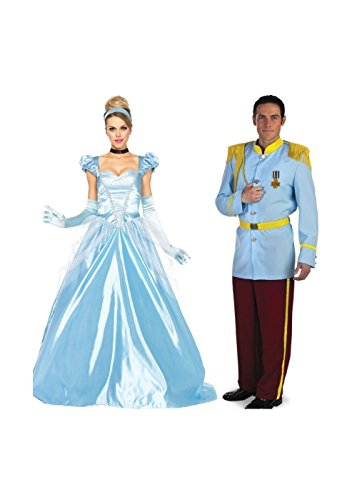 Prince Of Cinderella Costume (Prince Charming and Cinderella Couple Costume Kit)