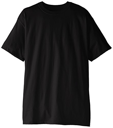 Hanes Men's Tall Short Sleeve Beefy-T, Black, 3X-Large/Tall (Pack of 2)