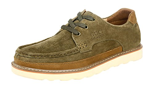 WUXING Men's Frosted Logging Durable Outdoor Equipment Leisure Shoes(7.5 D(M)US,camel)