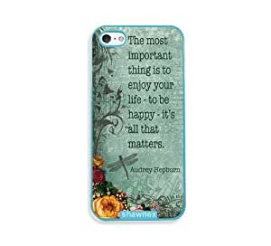 Audrey Hepburn Quote Enjoy Life Vintage Aqua Plastic Case For Sony Xperia Z2 D6502 D6503 D6543 L50t L50u Cover - Fits Case For Sony Xperia Z2 D6502 D6503 D6543 L50t L50u Cover