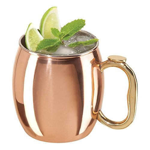 Copper-Plated 20 Ounce Moscow Mule Drinking Mug, Set of 4 by BigKitchen by BigKitchen