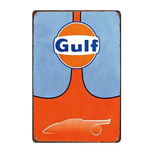 (Metal Tin Sign Gulf Oil Bar Pub Home Vintage Retro Poster Cafe Art TIN Sign 7.8X11.8 INCH)