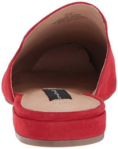 Steven De Steve Madden Mujeres Valent Slip-on Loafer Red Suede