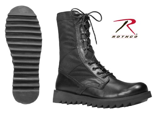 Wave Sole Jungle Boots- Black, 8R by Rothco (Image #1)