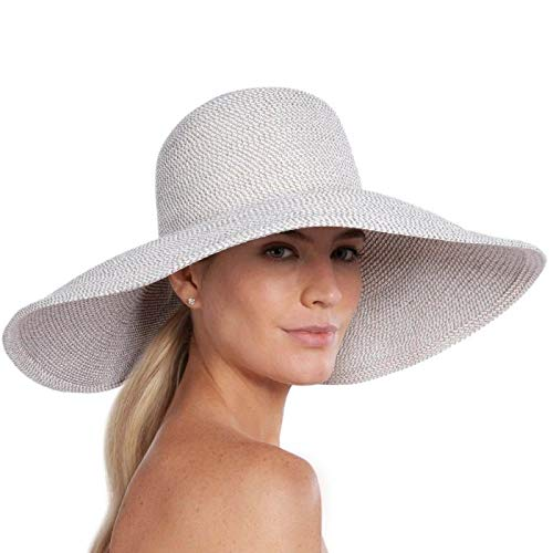 78e8ae539e7 Eric Javits Luxury Women s Designer Headwear Hat - Floppy - Ice at ...